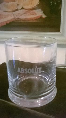 conjunto de 6 vasos cortos de cristal absolut
