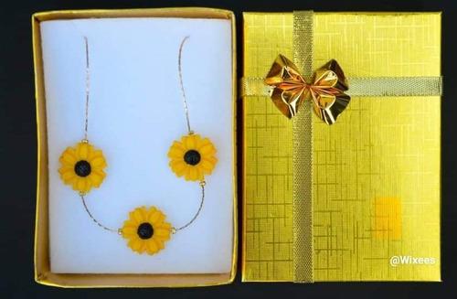 conjunto de accesorios de girasol