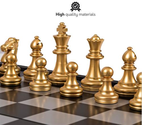 conjunto de ajedrez de viaje magnético con junta de que s