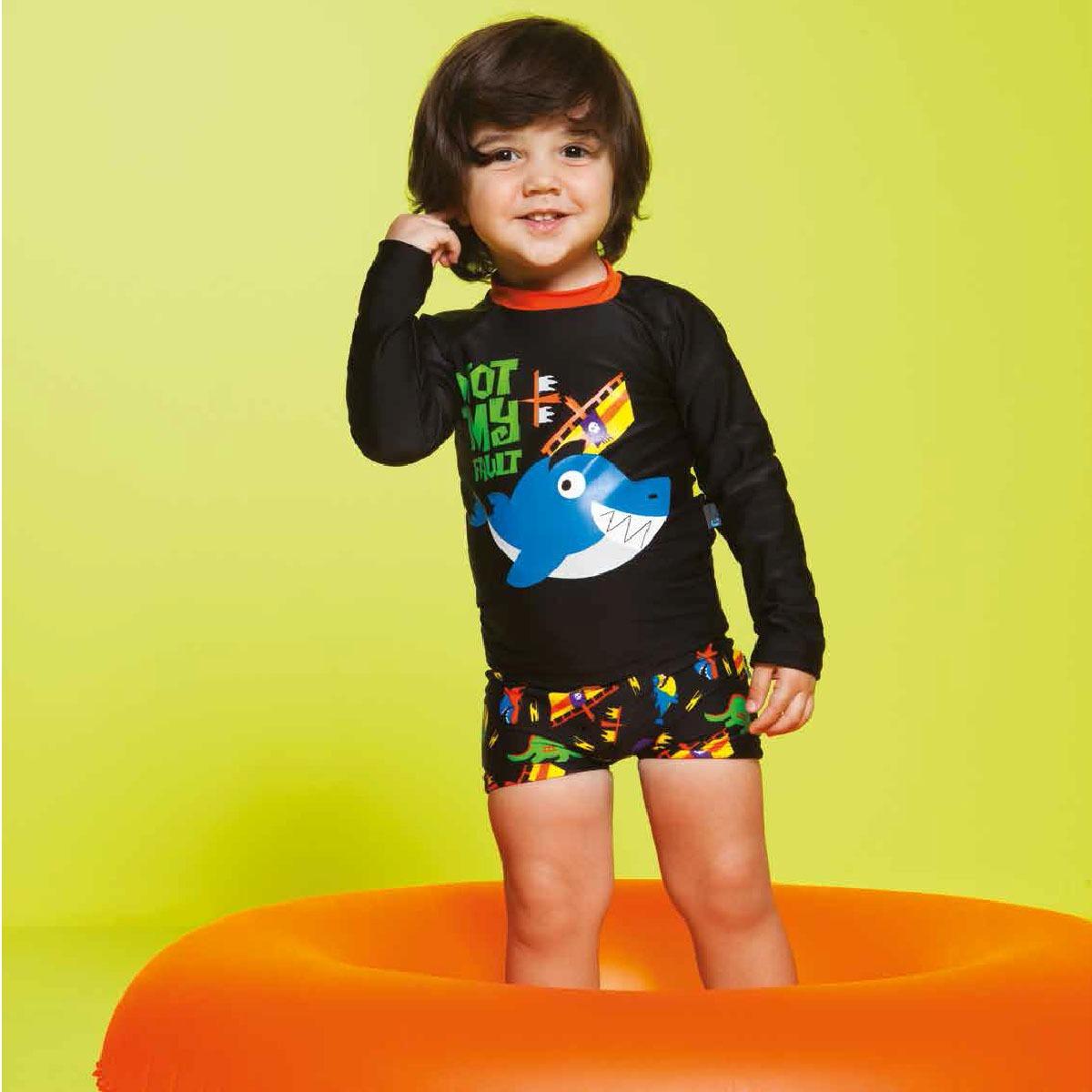 a3ff43075 conjunto de banho para bebê tuba: camiseta surfista + sunga. Carregando  zoom.