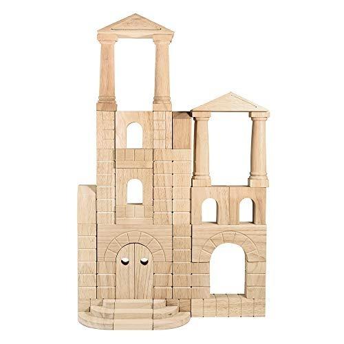 conjunto de bloques de unidad de madera arquitectónica