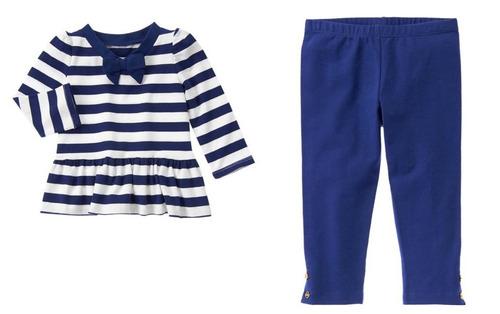 conjunto de blusa e legging gymboree meninas - infantil