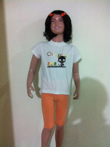 conjunto de blusa y bermuda para niñas talla 6. tela algodón