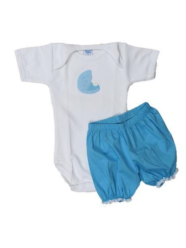 conjunto de body e porta fraldas concha bebê algodão