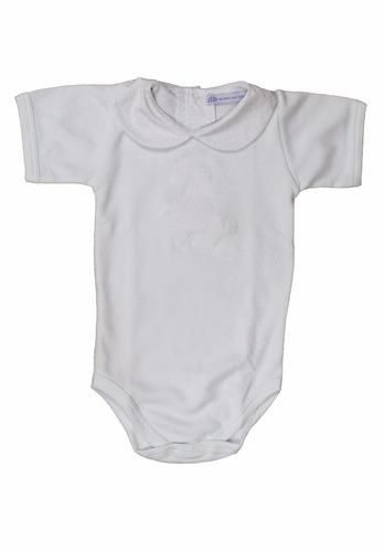 conjunto de body e porta fraldas poodle bebê algodão