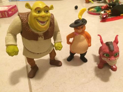 conjunto de bonecos do filme shrek