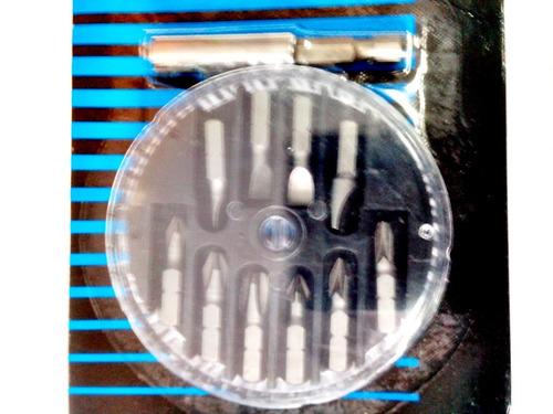 conjunto de brocas de cromo vanandio com 11 peças