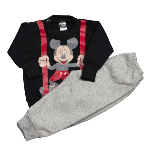 conjunto de buzo estampa y pantalón friza bebes