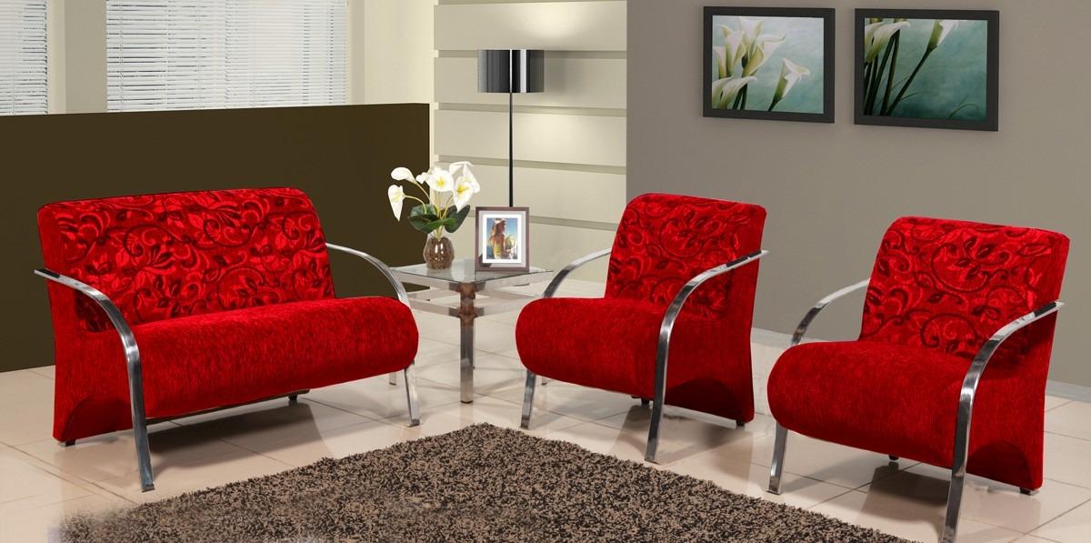 Cadeira Moderna Para Sala De Estar ~ Conjunto De Cadeiras Decorativas  Sala De Estar Recepção  R$ 725