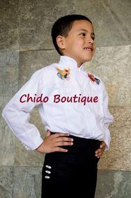 Conjunto De Camisa Y Pantalón Negro O Caporal Para Niños