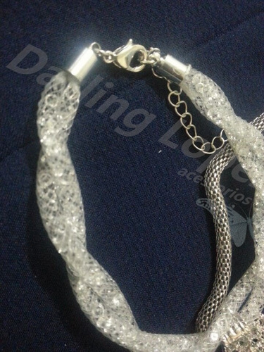 conjunto de colar e pulseira swaroski cristal 4mm importado