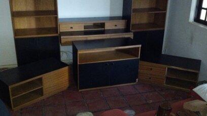 conjunto de estante de sala de estar com 7 peças