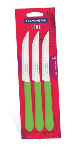 conjunto de facas para churrasco 3 peças tramontina 23180324