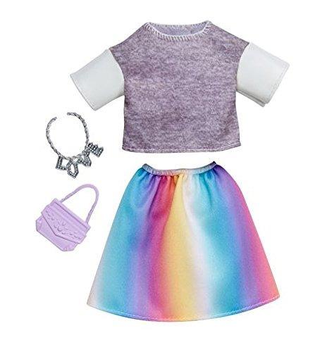 conjunto de falda arco iris superior gris de look de b...