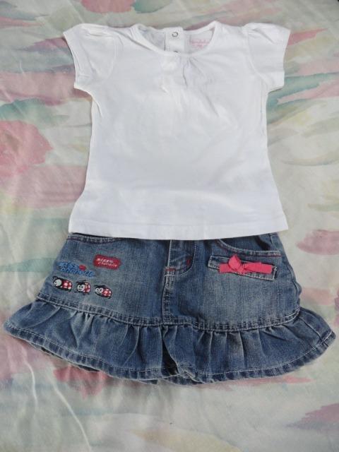 470089a18 Conjunto De Falda Jeans Para Niña