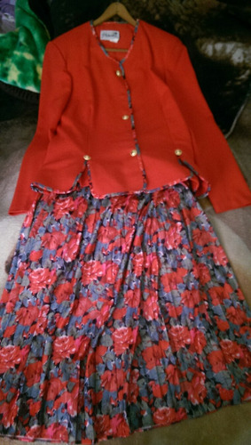 conjunto de falda y blaiser dama
