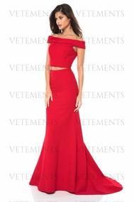 1a7b29f15 Vestido Seda Fria Rojo Cuello Bote Vestidos Polleras - Ropa y ...