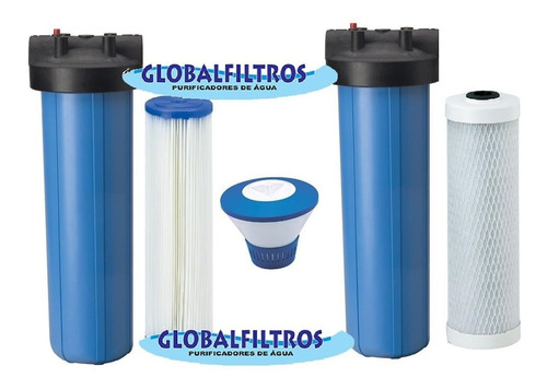 conjunto de filtros completos para cisterna e poço artesiano
