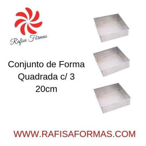 conjunto de forma quadrada c/3 20x20x10