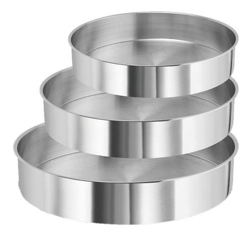 conjunto de formas redondas 3 pçs -10cm 15cm 20cm x 5cm alt