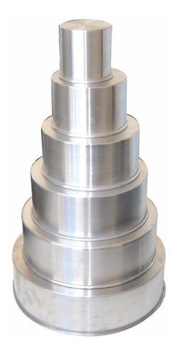 conjunto de formas redondas altas com 6 peças-10cm de altura