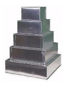conjunto de formas retangulares c/5 8cm altura