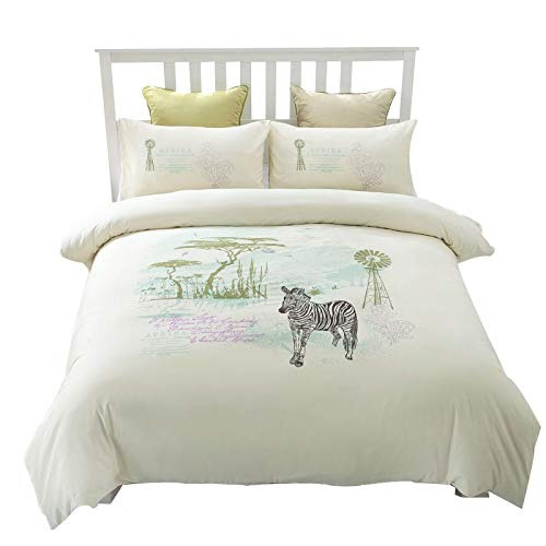Funda Nordica Zebra.Conjunto De Funda Nordica Bordada Queen Size 100 Cotton Ivor