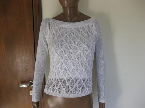 conjunto de hilo blanco de mujer chaleco mas sweater importa