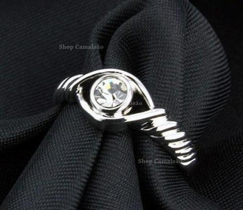 conjunto de jóias com corrente, anel e brincos banhado em r
