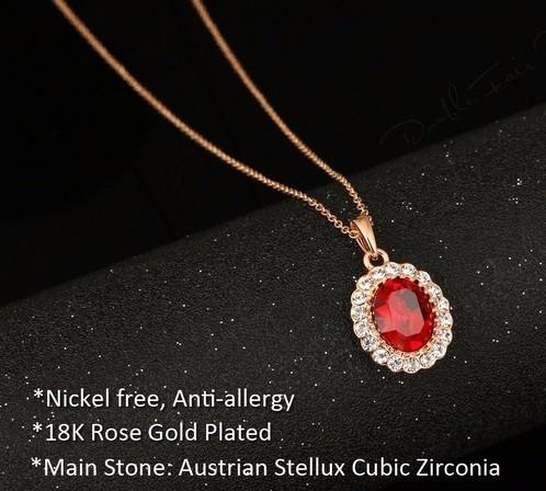 conjunto de jóias luxo rubi vermelho colar brincos ouro 18k
