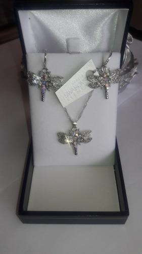 conjunto de joyas cristal swarovski elements