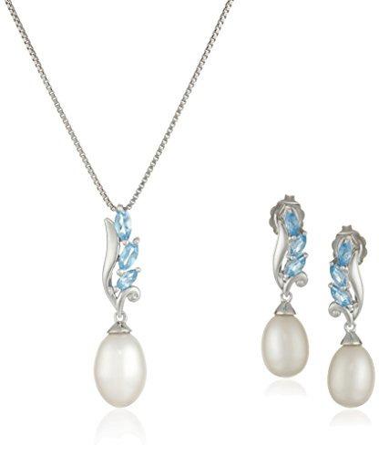 0cec9627c55a Conjunto De Joyas Y Aretes De Plata Y Perlas Cultivadas En A -   118.534 en  Mercado Libre