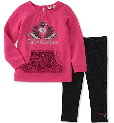 conjunto de legging de la túnica juicy couture girls, pink p