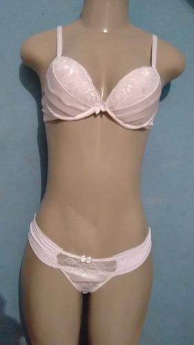 conjunto de lingerie branco