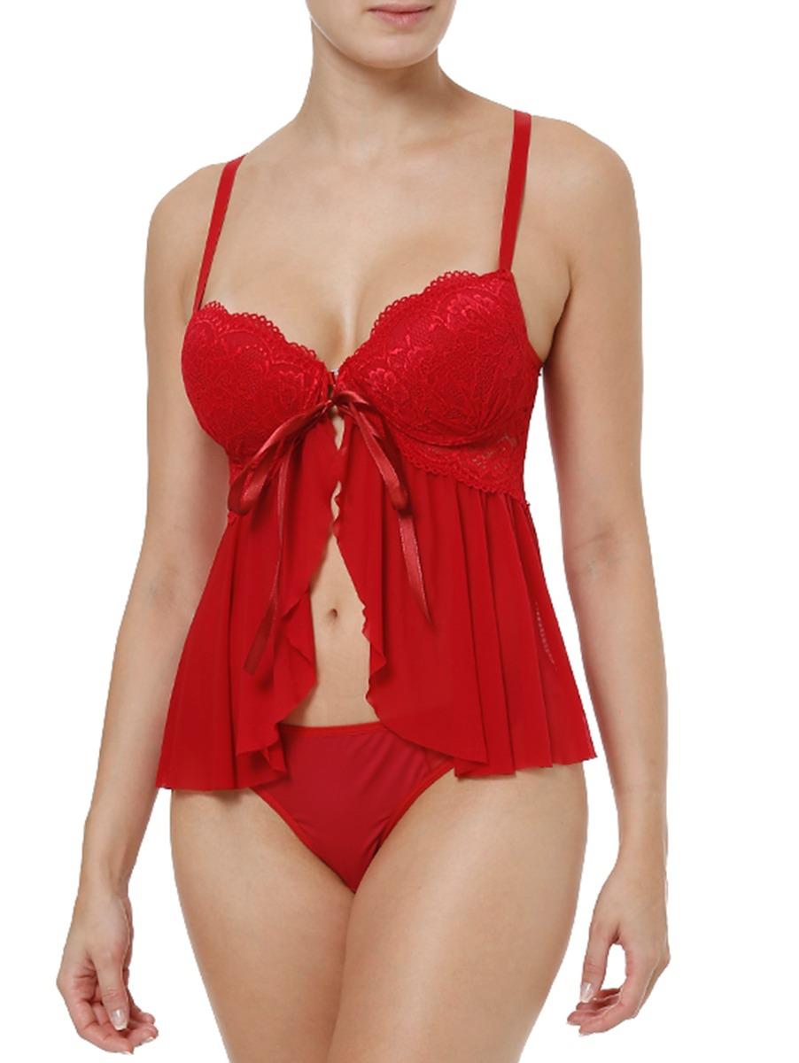 aaf6dbcb0 conjunto de lingerie feminino vermelho. Carregando zoom.