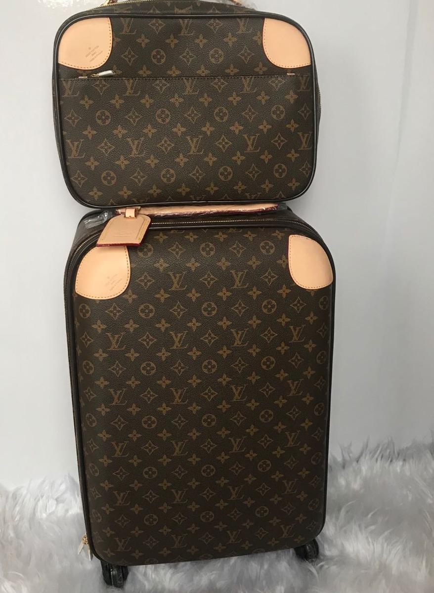 Conjunto De Malas Louis Vuitton Original Em Couro Promoção! - R ... 5cc3a4524ff74