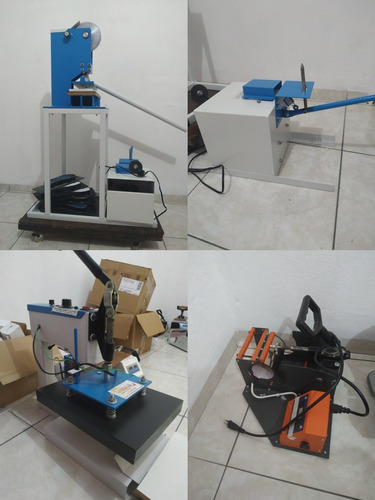 conjunto de máquinas: corte de chinelo manual + prensa p25