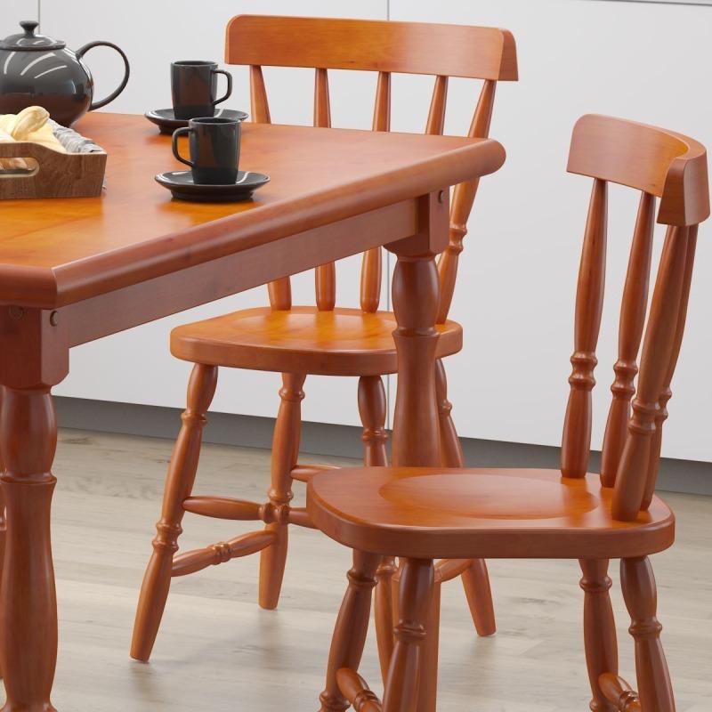 41528bf32 conjunto de mesa 1.25m com 4 cadeiras piratini 100% madeira. Carregando  zoom.