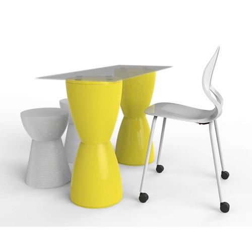 conjunto de mesa com 1 cadeira e 2 bancos home office ama...