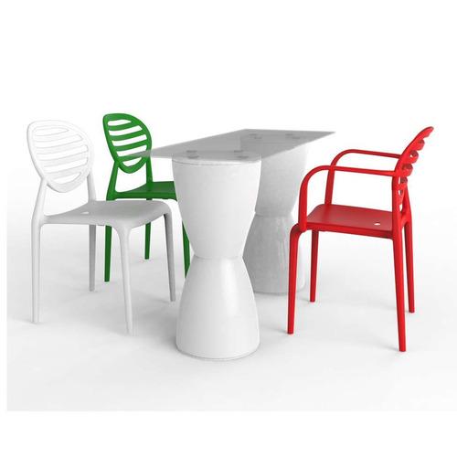 conjunto de mesa com 3 cadeiras work station branco