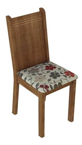 conjunto de mesa com 4 cadeiras rosie rustic e floral hib...