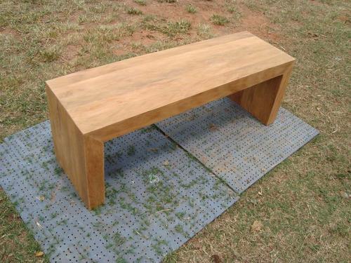 conjunto de mesa  e 2 bancos de de madeira - peroba rosa