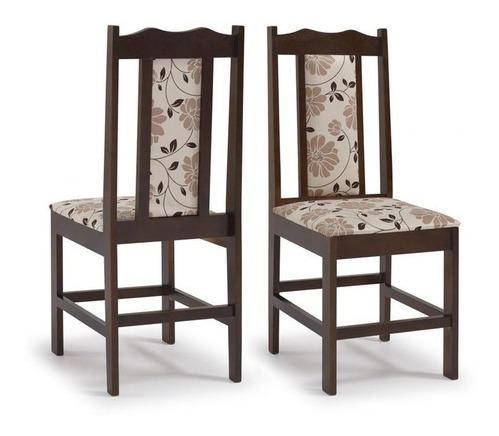 conjunto de mesa essência madeira maciça com 4 cadeiras cari