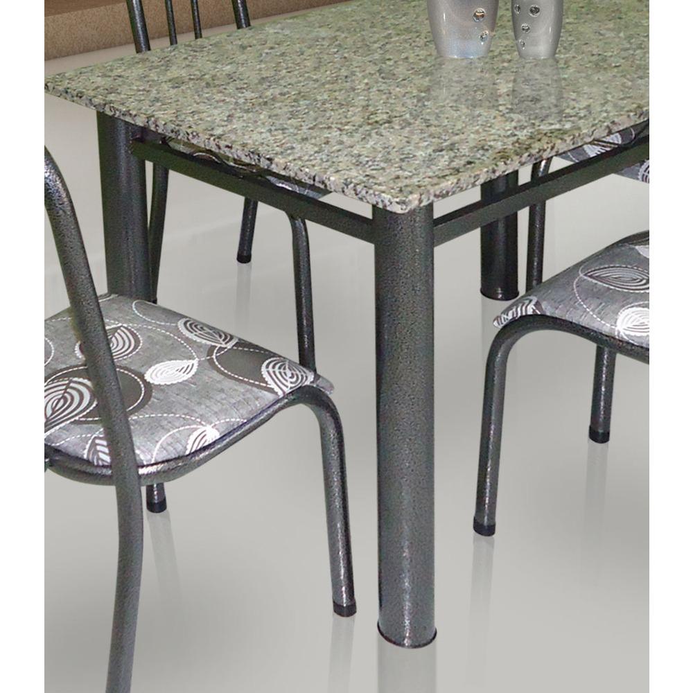 Conjunto de mesa movita tampo em granito e 4 cadeiras preto r 474 05 em mercado livre - Mesa de granito ...