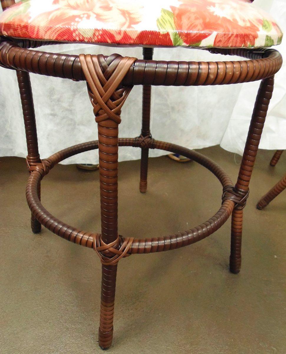 Conjunto de mesa quadrada e 4 cadeiras ferro rattan junco r em mercado livre - Mesas de rattan ...