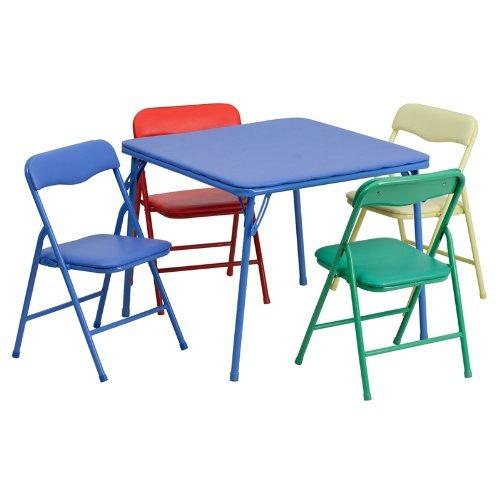 conjunto de mesa y silla plegable de colores de 5 piezas par