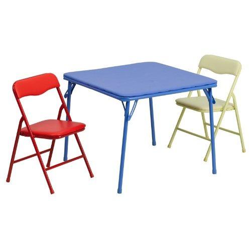 conjunto de mesa y silla plegable de colores para ninos flas