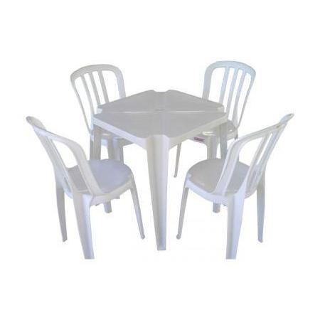b384c8f22 Conjunto De Mesas E Cadeiras De Plástico Goyana Unica 182kg - R  149 ...