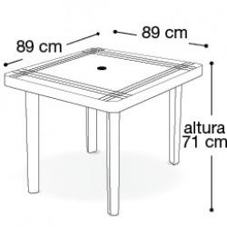 conjunto de mesas e cadeiras de plástico quadrada desmontave