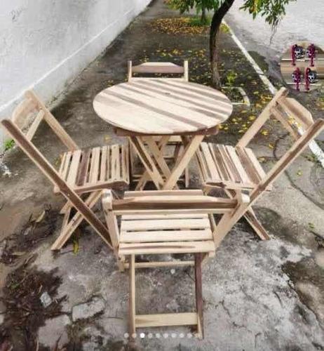 conjunto de mesas e cadeiras dobráveis